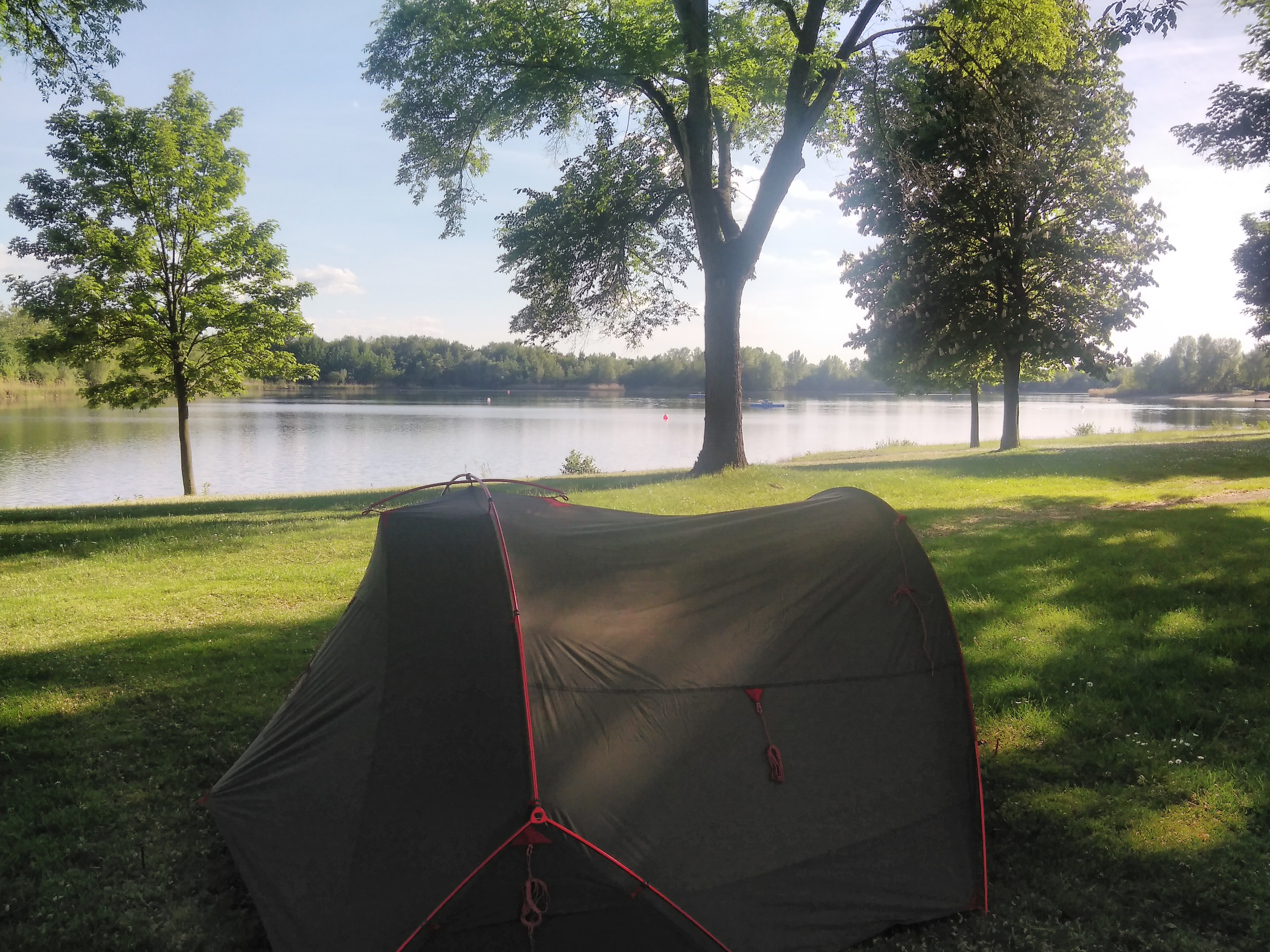 Free Wifi free power a huge crystal clear lake in the middle of a nature reserve and a lakeside lawn for tents this hidden gem was probably one of my ... & The ultimate cycle tourist guide to campsites along the Rhine ...